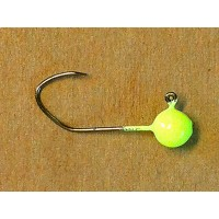 Jig Hook - 1/8 #1 Green Chartreuse UV