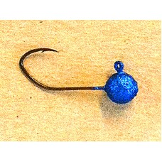 Jig Hook - 1/8 #2 Blue Sparkle UV